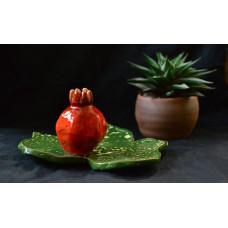 """Миниатюрная вазочка для одного цветка: """"Сочный гранат"""""""