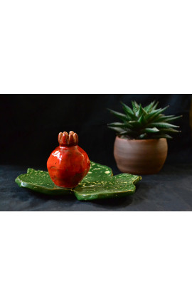 """Миниатюрная вазочка для одного цветка """"Сочный гранат"""""""