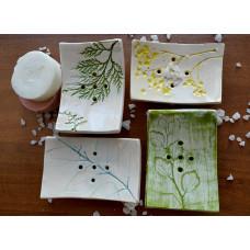 Керамические мыльницы: Флора