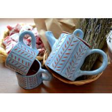 Кофейник и две чашки